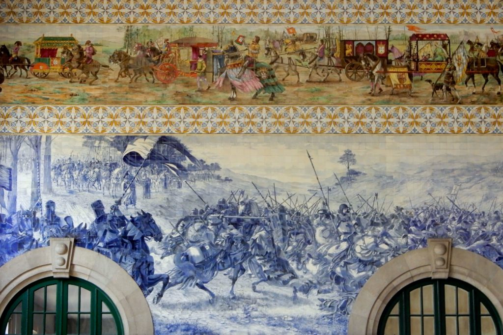 Estação de São Bento, Bahnhof in Porto, mit mehr als 20.000 Azulejos.