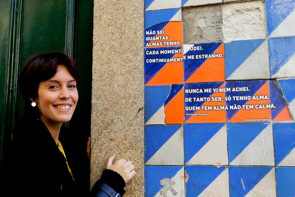 """Joana Abreu, Projekt """"Preencher Vazios"""" und die Azulejos von Porto."""
