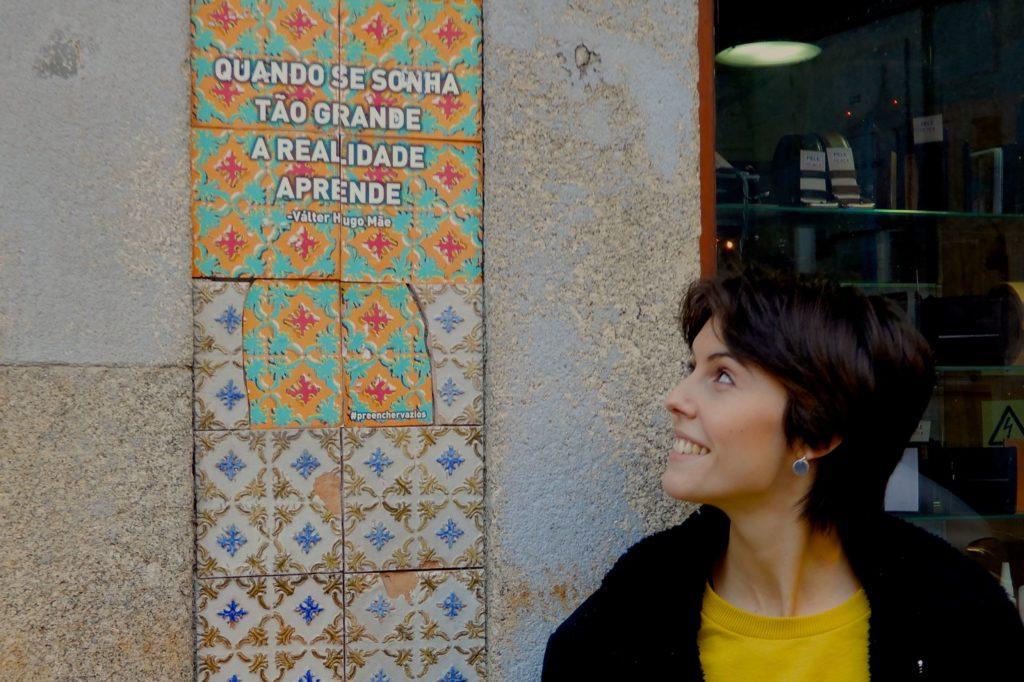 "Joana de Abreau und ihr Projekt ""Preencher Vazios""."