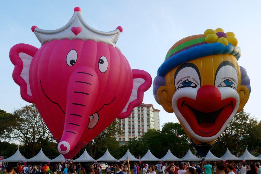 Penang Hot Air Balloon Fiesta. Lustige Ballons aus Belgien und der Slowakei .
