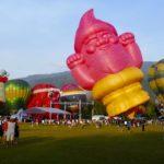 Penang Hot Air Balloon Fiesta. Heißluftballons in George Town, Malaysia.
