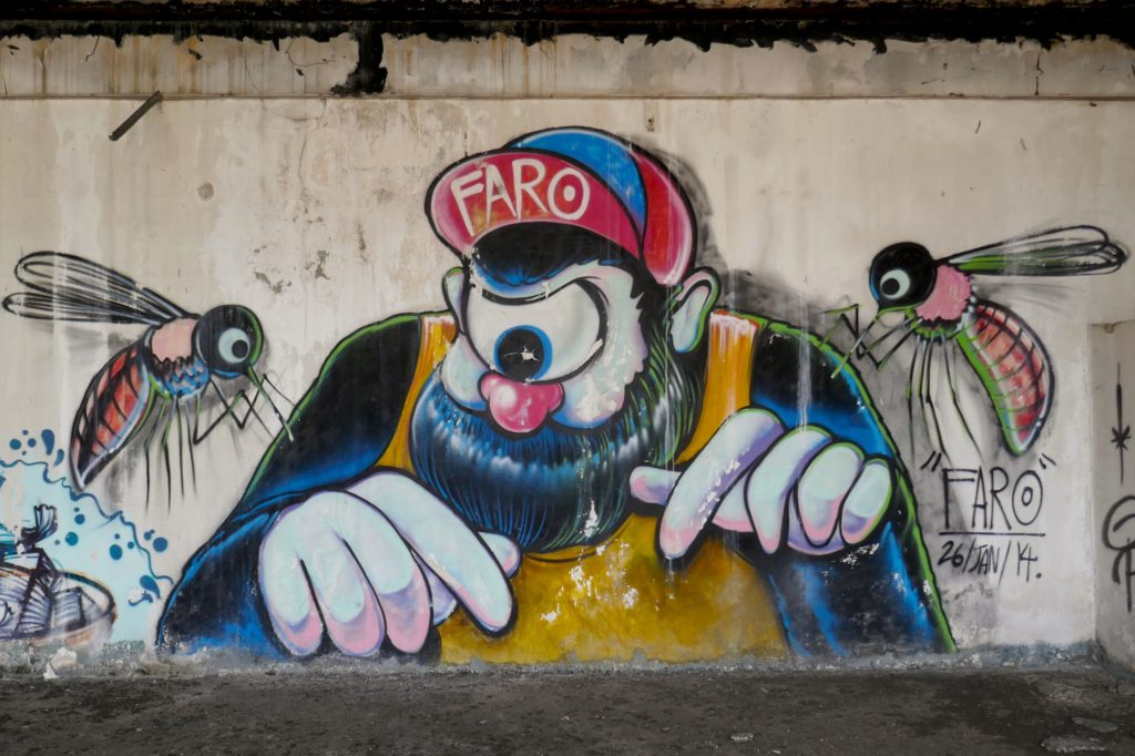 New World Mall. Street Art im verlassenen Kaufhaus.