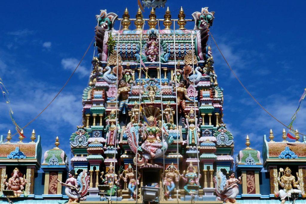 Arulmigu Sri Mahamariamman Tempel in George Town, Malaysia.