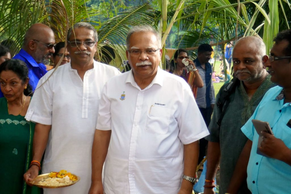 Pongal in George Town, Malaysia. Prof. Dr. P. Ramasamy, stellvertretender Ministerpräsident des Bundesstaates Penang.