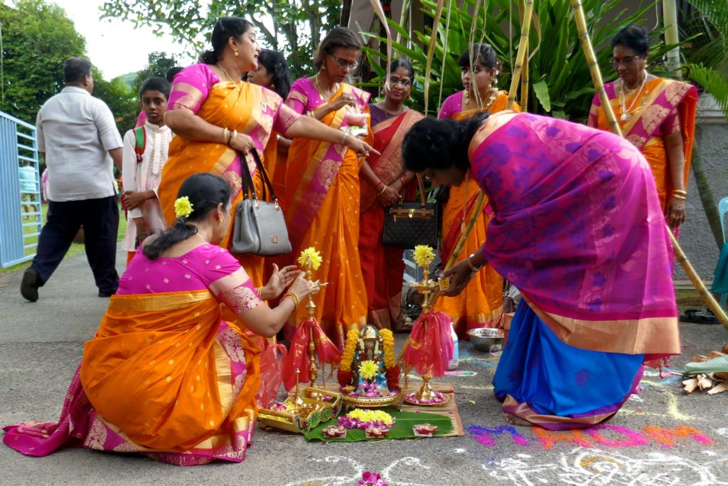 Pongal-Vorbereitungen in George Town, Malaysia.