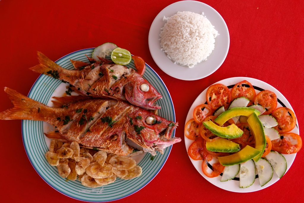 Snapper im Restaurant El Marino auf Cayo Granma.