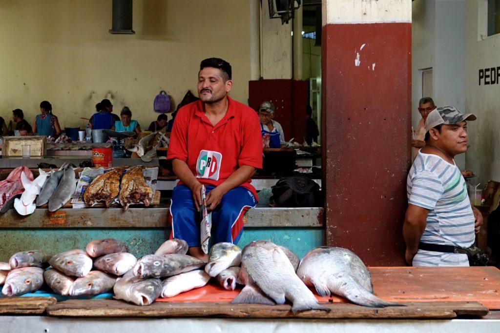 Die Fischabteilung im Mercado Pedro Sainz de Baranda in Campeche.