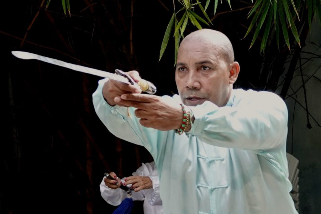 Wushu, chinesische Kampfkunst in Havannas Chinatown.