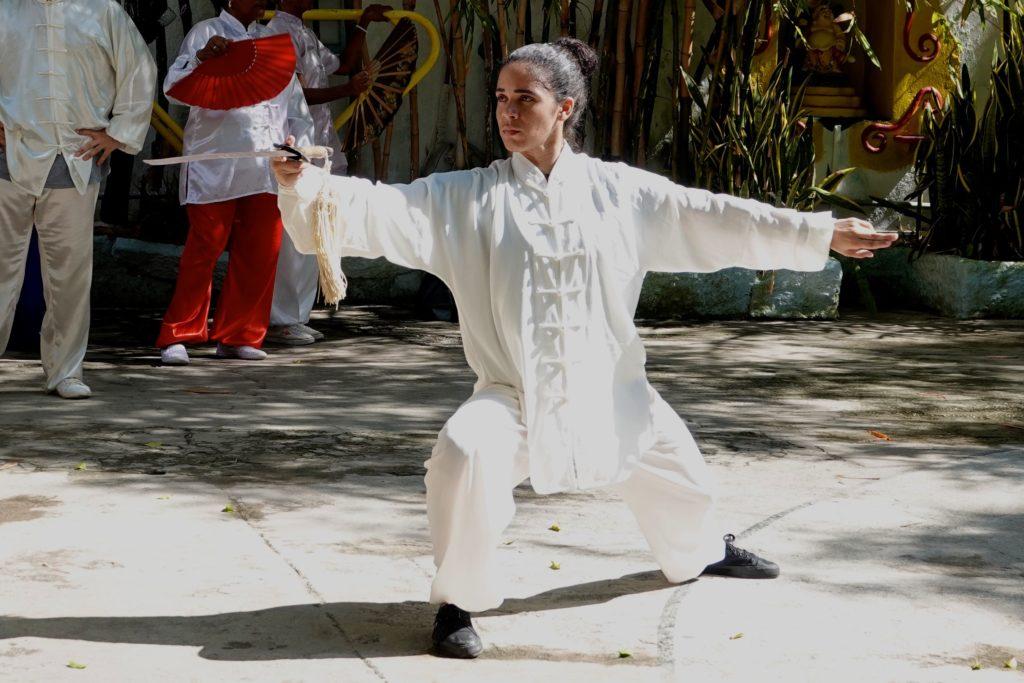 In der Wushu-Schule im kubanischen Havanna.