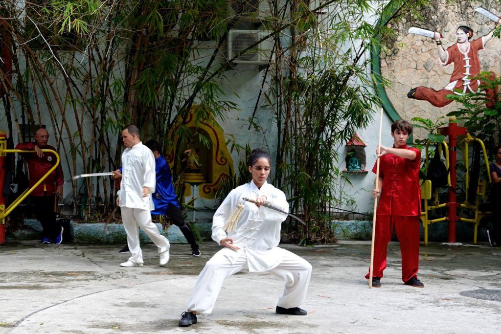 Blick in die Escuela Cubana de Wushu, eine Schule für chinesischen Kampfsport in Havannas Chinatown.